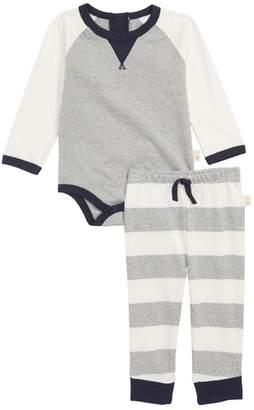 Burt's Bees Baby Colorblock Organic Cotton Bodysuit & Pants Set