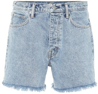 Helmut Lang Cut Off Boy Fit denim shorts