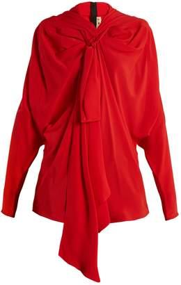 Marni Tie-neck crepe de Chine blouse
