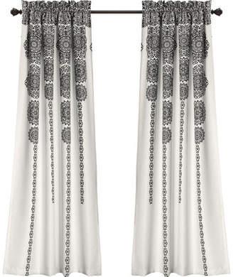 Mistana Nemeara Ikat Room Darkening Rod Pocket Curtain Panels