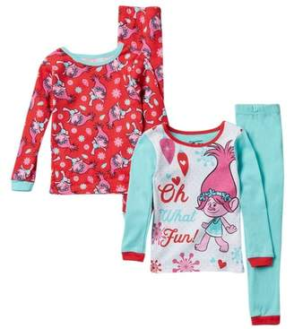 AME Trolls Poppy Oh What Fun! Holiday Cotton PJs - Set of 2 (Toddler Girls)