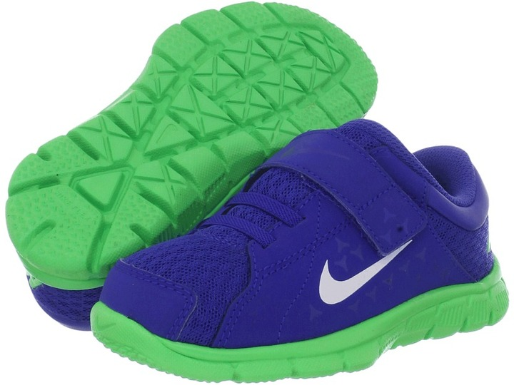 Nike Kids - Flex Supreme TR (Infant/Toddler) (Hyper Blue/Poison Green/White) - Footwear