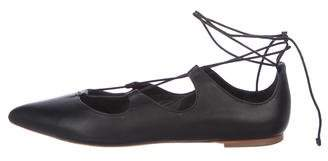 Loeffler Randall Leather Pointed-Toe Flats