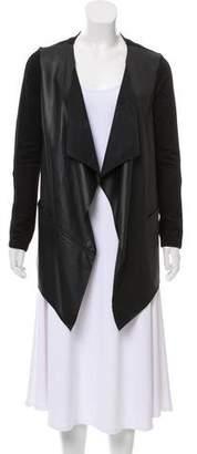 Velvet Faux Leather Casual Jacket