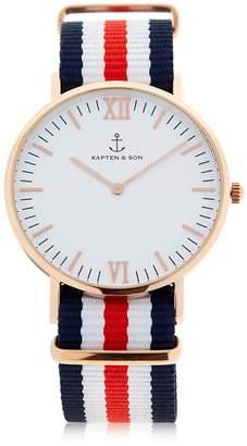 KAPTEN & SON 40mm Racer Watch