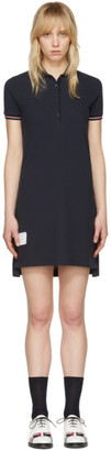 Thom Browne Navy A-Line Polo Dress $590 thestylecure.com