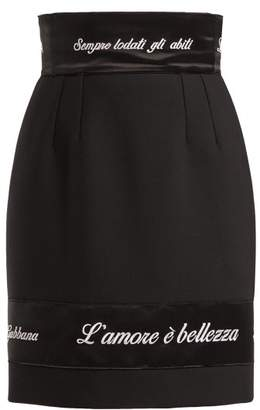 Dolce & Gabbana L'amore e Bellezza Appliqued Skirt - Womens - Black