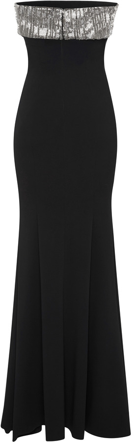 Maxime Simoens Stretch Crepe And Relief Embroidery Dress