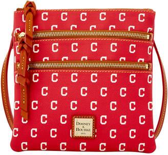 Dooney & Bourke Cleveland Indians Triple Zip Crossbody Bag
