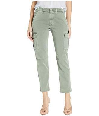 Hudson Jeans Jane Slim Cargo Pants in Distressed Sage