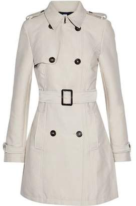Iris & Ink James Double-Breasted Gabardine Trench Coat