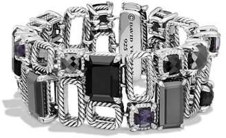 David Yurman Châtelaine Pavé Bezel Multi-Row Linked Bracelet with Black Onyx, Hematine, Black Orchid and Diamonds