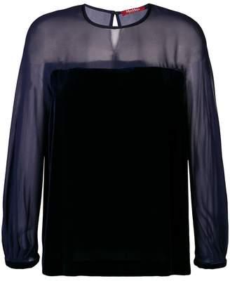 Max Mara Alfeo velvet blouse