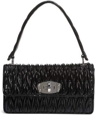 Miu Miu Vernice Matelasse Quilted Leather Shoulder Bag