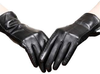d7d2bcc5bd0a2 Long Keeper Women Winter Gloves Touch Screen Driving Windproof Rabbit Fur  Warm PU Leather Gloves