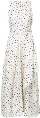 Diane von Furstenberg belted polka-dot maxi dress