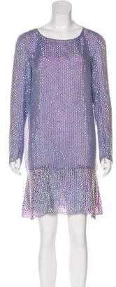 Theyskens' Theory Sequin-Embellished Silk Dress