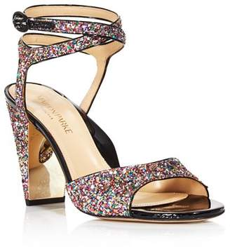 MARION PARKE Women's Loretta Rainbow Glitter High-Heel Sandals