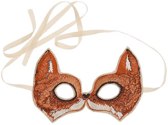Coral & Tusk Fox Mask - Brown
