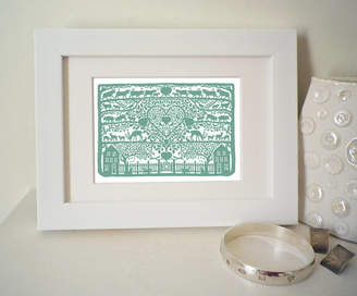 Mini A Ture Glyn West Design Miniature Heart Of The Country Print