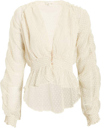 Divine Heritage Lace Ruched Top