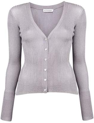 Altuzarra ribbed lurex V-neck cardigan