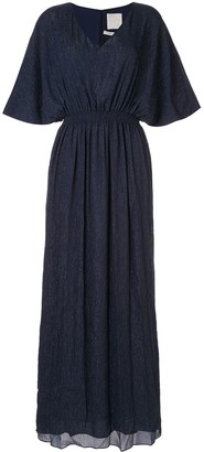 Ingie Paris lurex kaftan long dress