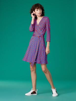 Diane von Furstenberg Irina Silk-Jersey Chiffon Wrap Dress