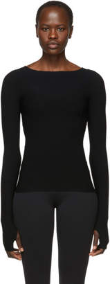 Live the Process Black Knit Seamless Long Sleeve T-Shirt