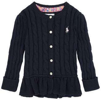 Polo Ralph Lauren Flared Cable Knit Cardigan