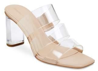 KENDALL + KYLIE Women's Leila2 Lucite Block Heel Sandals