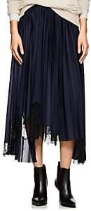 Helmut Lang Women's Asymmetric Knee-Length Skirt-Navy