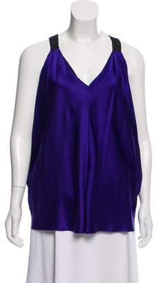 Laila Azhar Sleeveless Silk Blouse