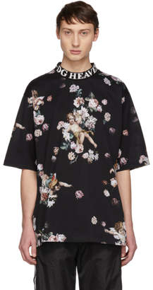 Dolce & Gabbana Black Heaven Flower Print T-Shirt