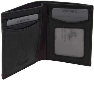 Visconti AP60 Thun Genuine Leather Mens Bi-fold Wallet