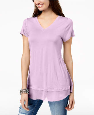 INC International Concepts I.n.c. Petite Sheer-Hem Top, Created for Macy's