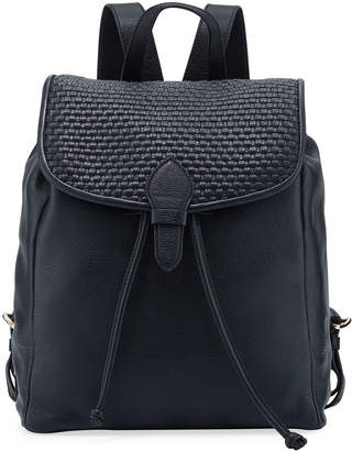 Cole Haan Bethany Woven Leather Backpack