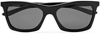 Balenciaga D-Frame Acetate And Silver-Tone Sunglasses