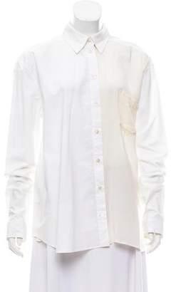 Jean Paul Gaultier Long Sleeve Button-Up Top