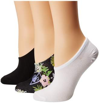 Converse 3-Pack Multi Hawaiian Floral Print Made for Chuck Women's Crew Cut Socks Shoes
