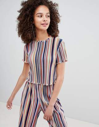 Bershka Stripe Top In Multi