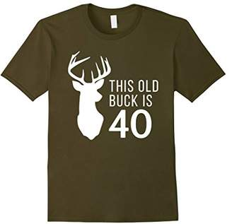 Hunter Birthday Gift This Old Buck is 40 Years Old Shirt