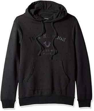 True Religion Men's Rhinestone Long Sleeve Hooded Pullover