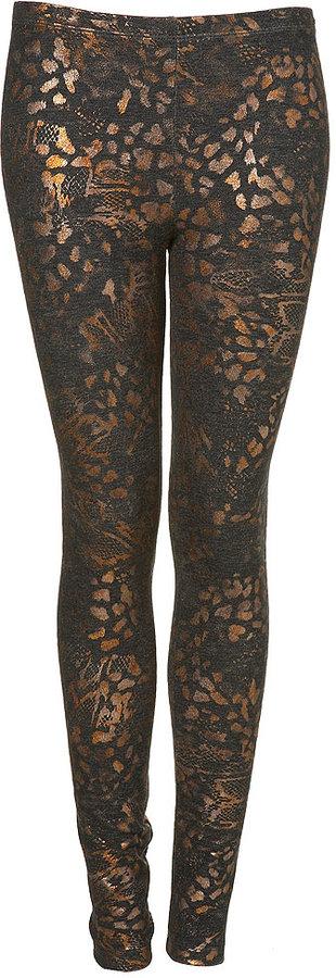 Animal Print Denim Leggings