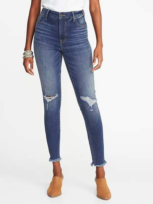 Old Navy High-Rise Secret-Slim Raw-Edge Rockstar Ankle Jeans for Women