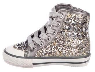 Ash Girls' Glitter High-Top Sneakers