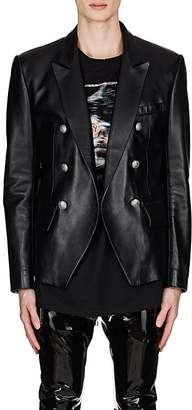 Balmain Men's Leather Double-Breasted Sportcoat
