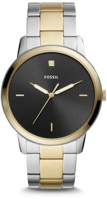Fossil The Minimalist Carbon Series Three-Hand Two-Tone Stainless Steel Watch