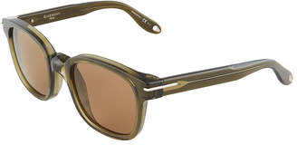 Givenchy Square Acetate Opaque Sunglasses