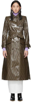 Fendi Brown Forever Trench Coat